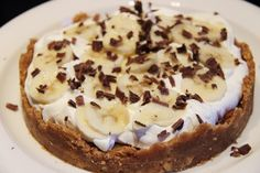banoffeepie Baking Recipes, Dessert Recipes, Sweet Pie, Sweet Sweet, I Foods, Cheesecake, Deserts, Brunch, Food And Drink