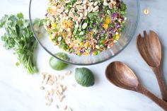 Thai Quinoa Salad For Reset: If you're going hardcore, omit the honey. I will omit the peppers because I hate them :)