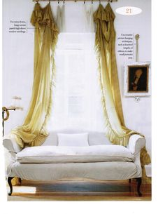 Lovely Curtain and settee vignette