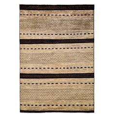 """Uqarout Hand Knotted Area Rug (6'4"""" X 9'8"""") (Beige - 6'4"""" X 9'8""""), Size 6' x 10' (Wool, Oriental)"""
