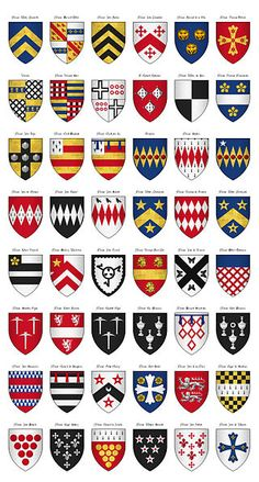 The Surrey Roll of Arms (aka Willement's Roll) - Shields 458-505 - Category:Surrey Roll - Wikimedia Commons