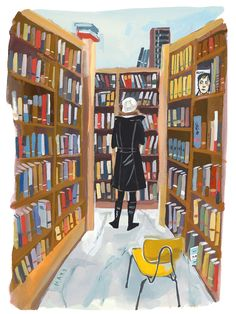 Poli at Book Culture Art Print by Jenny Kroik - X-Small Tea And Books, I Love Books, Reading Art, Collage, Magic Book, Book Images, Cute Illustration, Art Studios, Art Boards