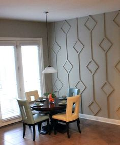 accent walls- using wood to create patterns