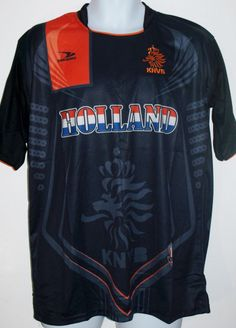 HOLLAND NETHERLANDS SOCCER JERSEY T-SHIRT BLACK L LARGE FOOTBALL WORLD CUP 2014