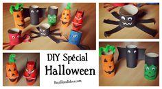 Halloween arrive à grands pas. Voici un DIY spécial pour créer avec vos enfants, araignées, chauve-souris et autres monstres d'Halloween, en qq coups de ciseaux, de peinture, ...