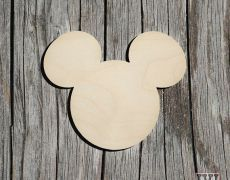 Blank Mickey Mouse din Lemn (Set 10) Mickey Mouse, Baby Mouse