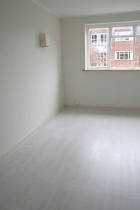 Paint your laminate flooring, credit crunch style!   MOREGEOUS, more than gorgeous: the house a blog built