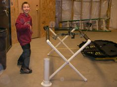 PVC quiver and PVC bow stand