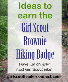 This past campout we not only had great weather, we planned a event where the girls earned the Brownie Girl Scout Hiking Badge.