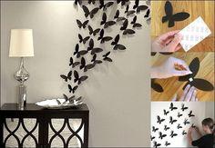 DIY Butterflies Wall Decor