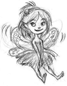 Cute fairy sketch