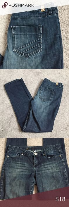 LC Lauren Conrad Straight Leg Jeans Whiskered fading around hip area and fading on the bum. LC Lauren Conrad Jeans Straight Leg