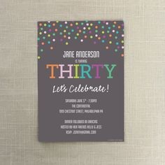 30th Birthday Invite  Birthday Invitation  by CreativeUnionDesign, $12.00