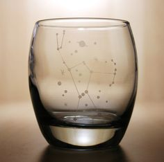 Etched Orion Constellation rocks glass