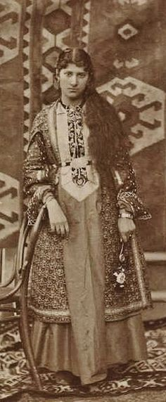 Portrait of an Armenian lady from the old Yerevan. Ca. 1900.