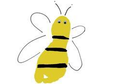 Footprint Bumblebee Preschool Art Project