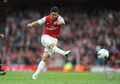 Excellent shot and goal by Arteta against Man City