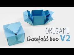 Origami Gatefold Box Tutorial V2 - YouTube