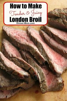 london broil recipes The best London Broil marinade was used in our Make Ahead Meal Kitchen thousands of times! our tips to perfectly cook it in the oven or on the grill every single time. Baked London Broil, London Broil Marinade, London Broil Steak, Grilled London Broil, Cooking London Broil, London Broil Recipes, Recipe For London Broil, Cooking Steak, Beef Recipes For Dinner
