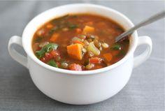 Rwanda : Make the best Lentil Soup with Sweet Potatoes, Spinach - The Rwandan Cook