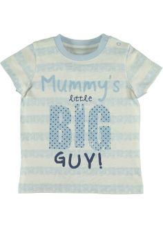 Boys Slogan Print Top (Tiny Baby-18mths) - Matalan £3