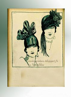 In Search of Lost and Forgotten Modes: Art and Fashion 1925 - Spring Hats *