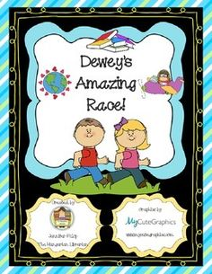 Help your kids learn the Dewey Decimal system the fun way by taking them on a trip around the world of Dewey! This event kit is a great library orientation activity for back to school. This package includes:****10 colorful Dewey Amazing Race Challenge posters.