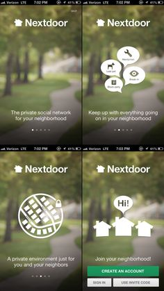 Nextdoor · Walkthroughs #UI #UX #flat UI