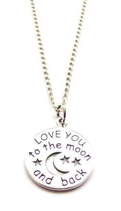 Sterling Silver Love You To The Moon And Back by HeartProjects