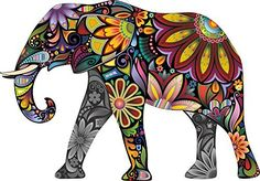LARGE Abstract Elephant Full Colour Wall Sticker Vinyl Decal Wall Art Transfer by Thorpe Signs, http://www.amazon.co.uk/dp/B011O31SB6/ref=cm_sw_r_pi_dp_.Y2qzb9JGJQAT
