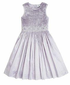 Sleeveless Floral Taffeta Smocked Dress - Brooks Brothers