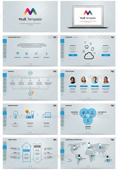Set of presentation templatee in annual report corporate flyer best business presentation templates cheaphphosting Choice Image