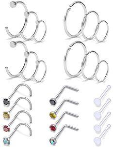 "16g 3//8/"" Horseshoe Anodized Rainbow Steel Septum Lip Ear Tragus 4MM Ball #C"