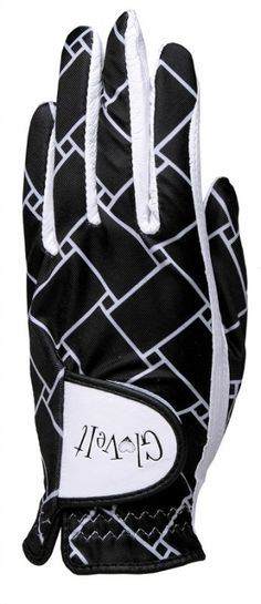 Black and White Basketweave Glove It Ladies Golf Gloves