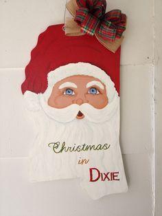 Mississippi Santa door hanger by PaintingsbyJerri on Etsy
