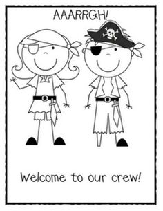 pirate worksheet for the first day of school | Pinterest Most Wanted