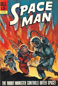 Space Man #9, 1964. Cover art by Victor Prezio.