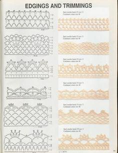 Magi Crochet Nº 94 - claudia - Picasa Web Albums Crochet Edging Patterns, Crochet Borders, Crochet Stitches, Crochet Edgings, Crochet Books, Diy Crochet, Lace Border, Magic, Knitting