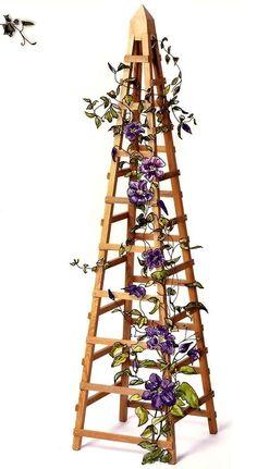 Patio Planter Garden Vine Trellis 9 Pot Plant Stand Plans American Woodworker | eBay