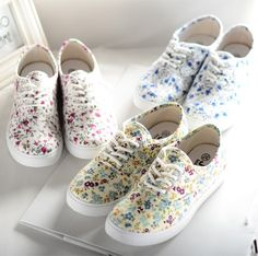 d127320db In the spring and autumn 2014 Han edition fresh students female shoes  breathable sandals floral canvas