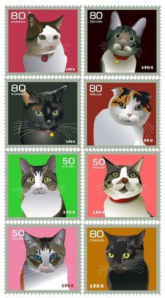 これは凄い!! グラッフィック・アート 的な猫の切手集 - 〓 ねこメモ 〓