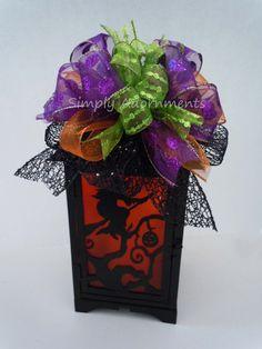 Halloween Lantern Bow Fall wreath Bow by SimplyAdornmentsss