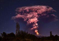 Erupción del Volcán Villarrica (Rukapillán), 3 de Marzo de 2015.
