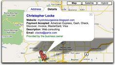 Una tarjeta personal o profesional con la estética de google maps.