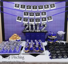 """Picture your future"" graduation dessert table by Party Pinching  {Printables via Piggy Bank Parties}"