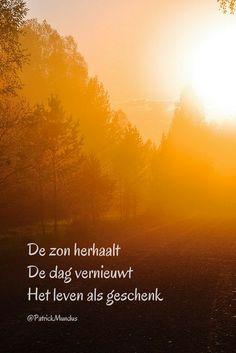 De zon herhaalt, de dag vernieuwt het leven als geschenk...
