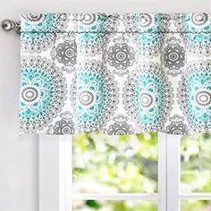 DriftAway Bella Medallion Pattern Room Darkening Window Curtain ...