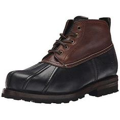 Frye Warren Low Duck Boot Mens 3487137-BMU Brown Weatherproof Boots Size 9