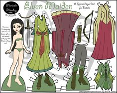 Marisole as an Elven Maiden | Paper Thin Personas, B or colored