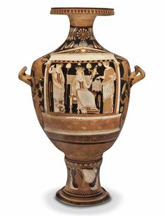 AN APULIAN RED-FIGURED HYDRIA - ATTRIBUTED TO THE WHITE SACCOS PAINTER, CIRCA 320-310 B.C.